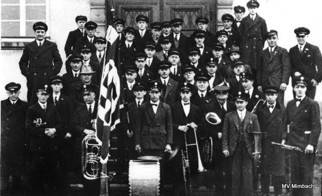 """Arbeiterverein Mimbach mit """"musikalischer Unterstützung"""", 1938(Quelle: Unbekannt, Hinweise erbeten)"""