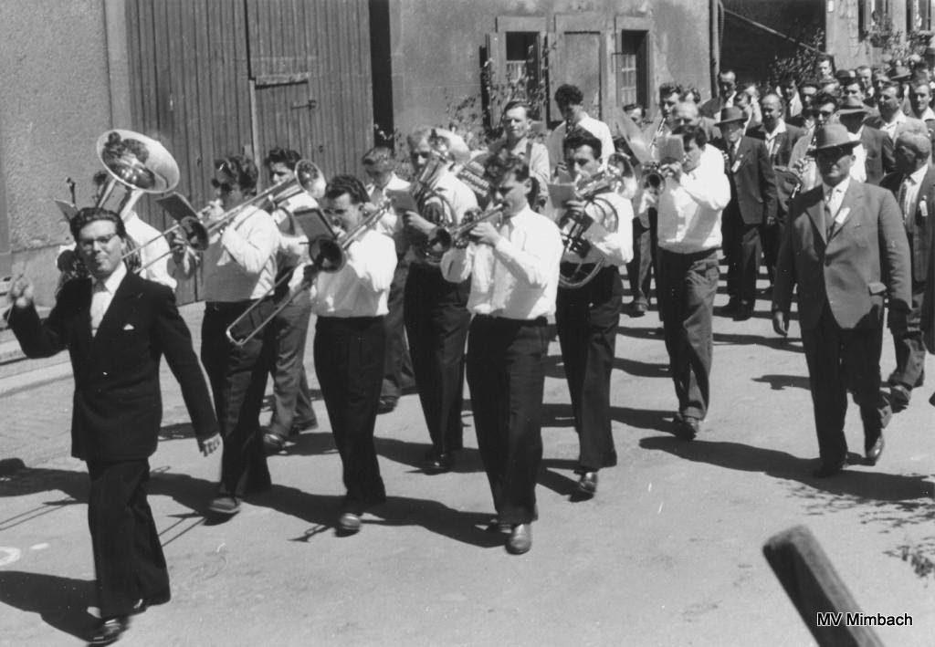 Orchester 1957 unter Leitung von Hans Puderer(Quelle: Unbekannt, Hinweise erbeten)