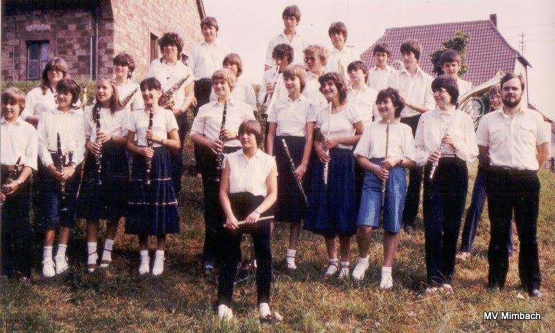 Jugendorchester 1982 unter der Leitung von Gernot Schunck