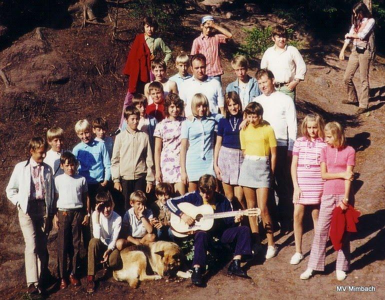 Jugendfreizeit in Dahn, 1971Betreuer, u.a.: K.H. Linn, Walter Klein(Quelle: Unbekannt, Hinweise erbeten)