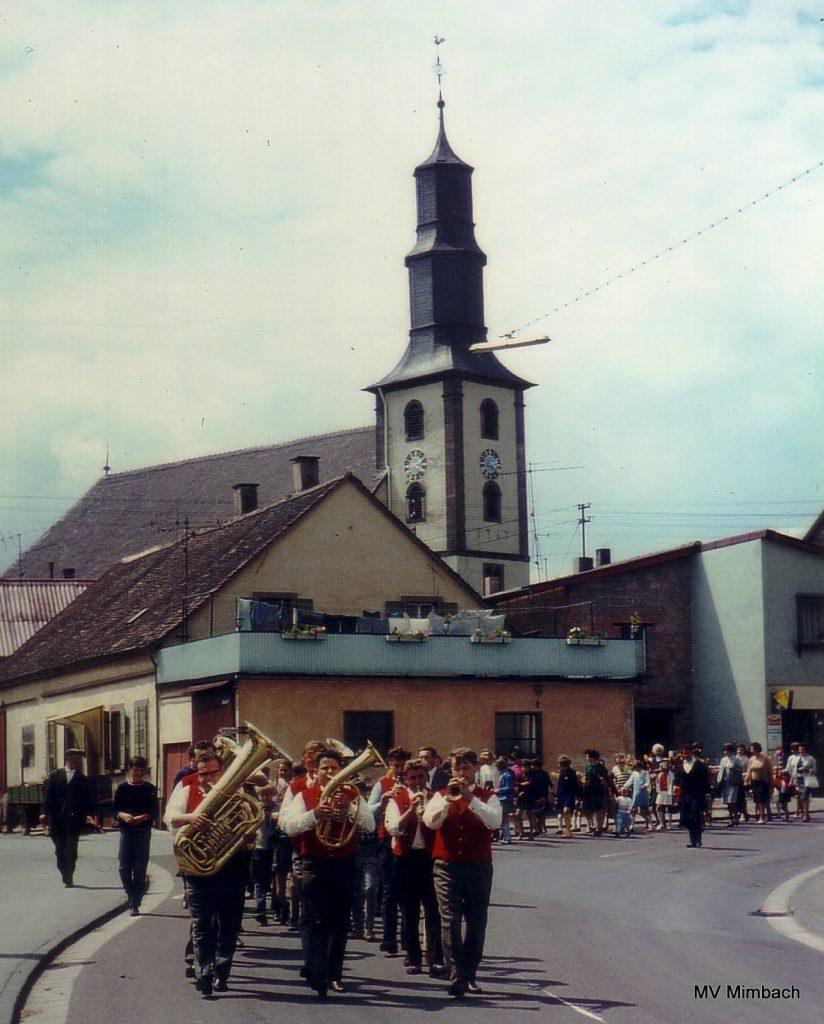 Umzug in Mimbach 1968