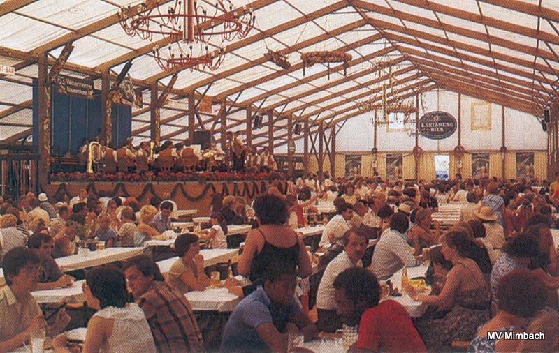 Das Große Orchester auf dem 63. Webenheimer Bauernfest, 1984